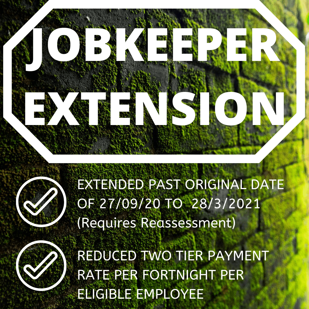 JobKeeper Payment Scheme - Extension and Changes